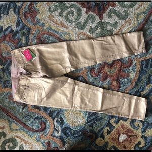 Lilly Pulitzer size 0 gold denim